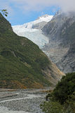 Glacier and valley - vertical Royalty Free Stock Image