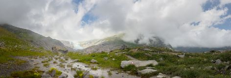 Glacier at Venediger Mountaion Group Royalty Free Stock Images