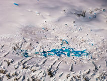 Aerial view glacier Royalty Free Stock Photo