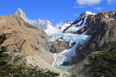Glacier viewpoint at Mount Fitz Roy, Los Glaciares National Park Stock Photo