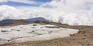 Glacier Volcano Nevado del Ruiz stock photos