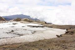 Glacier Volcano Nevado del Ruiz, Colombia Royalty Free Stock Photography