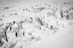 Glacier walk Stock Photography