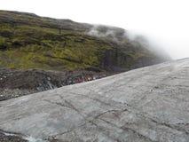 Glacier walk. In the Skaftafell National Park Stock Image