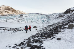 Glacier Walk Royalty Free Stock Images