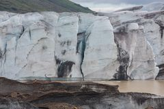 Glacier wals in Iceland Stock Photo