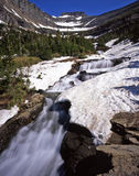 Glacier Waterfall Stock Image