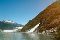Glacier and waterfall tour in Alaska Royalty Free Stock Photography