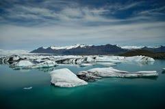 Glacierlagoon in Islanda Immagini Stock Libere da Diritti