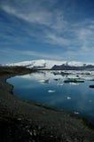 Glacierlagoon in Islanda Fotografie Stock Libere da Diritti