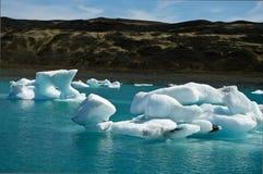 Glacierlagoon in Islanda Fotografie Stock