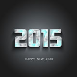 Glaciers 2015 Happy New Year. On black background sample vector illustration