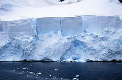 Glaciers And Icebergs In Errera Channel At Culverville Island, Antarctica Royalty Free Stock Image