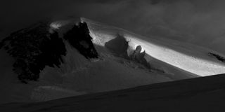 Glaciers!. Black & white composition about mountain Royalty Free Stock Photos