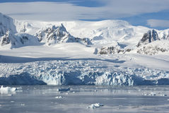 The glaciers on the coast of the western Antarctic Peninsula a s Royalty Free Stock Photography