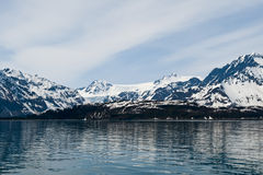 Glaciers on coastline Royalty Free Stock Photo