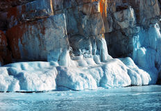 Glaciers de fonte Photos stock