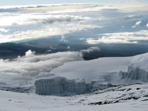 Glaciers de Kilimanjaro Photo libre de droits