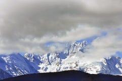 Glaciers de Mingyong de montagne de neige de Meili Image libre de droits