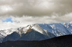 Glaciers de Mingyong de montagne de neige de Meili Photographie stock