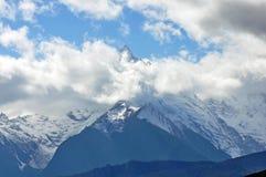 Glaciers de Mingyong de montagne de neige de Meili Photo stock