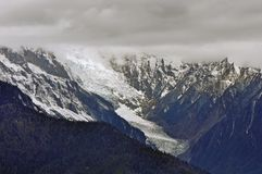 Glaciers de Mingyong de montagne de neige de Meili Photo libre de droits