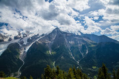 Glaciers de Mont Blanc Photo stock