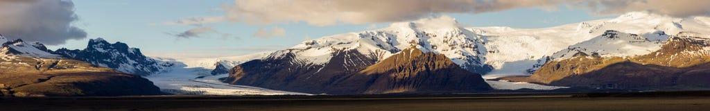 Glaciers en parc national de skaftafell - Islande photographie stock
