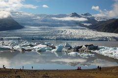 Glaciers et icebergs, Islande Image stock
