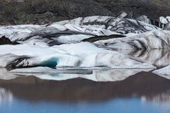 Glaciers et icebergs, Islande Photos libres de droits