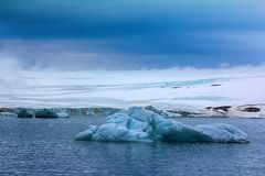 Glaciers on Franz Joseph Land, dome-shaped glacier. Glaciers on archipelago Franz Joseph Land, dome-shaped glacier with flat slopes. British channel, Island royalty free stock image