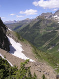 Glaciers - Going to the sun. Majestic view of glaciers in Going-to-the-Sun Road,Parc national Glacier Royalty Free Stock Image