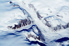 Glaciers of Greenland. Aerial view. Spring time - middle of May Royalty Free Stock Images