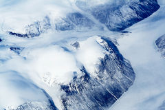 Glaciers of Greenland. Aerial view. Spring time - middle of May Royalty Free Stock Photography