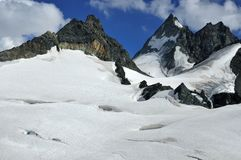 Glaciers and high mountains Royalty Free Stock Photo