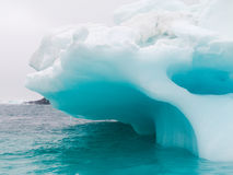 Glaciers and icebergs. Iceberg in the cold sea Royalty Free Stock Image