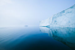 Glaciers and icebergs. Iceberg in the cold sea Royalty Free Stock Photo