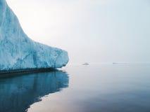 Glaciers and icebergs. Iceberg in the cold sea Stock Image