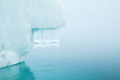 Glaciers and icebergs. Iceberg in the cold sea Royalty Free Stock Photos