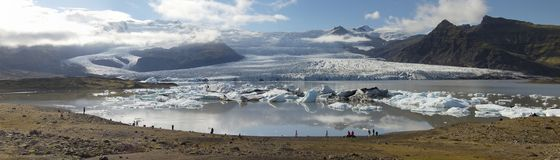 Glaciers and icebergs, Iceland Royalty Free Stock Images