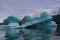 Glaciers in kenai fyords national park at bear glacier on kayaking trip stock images