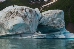 Glaciers in kenai fyords national park at bear glacier on kayaking trip royalty free stock photography