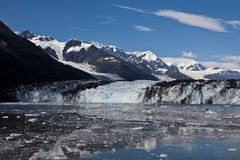 Glaciers with melting ice. Melting ice from glacier in College Fjord Stock Photos