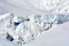Glaciers of Monte Rosa Stock Photo