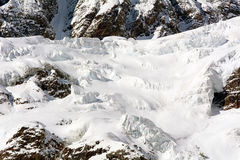 Glaciers of Monte Rosa Stock Photography