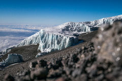 Glaciers on Mount Kilimanjaro, Tanzania Royalty Free Stock Photography