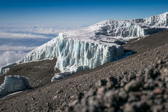 Glaciers on Mount Kilimanjaro, Tanzania Royalty Free Stock Images