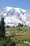 Glaciers on Mount Rainier Stock Photos