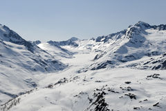 Glaciers and mountains stock photos