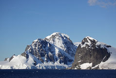 Glaciers and mountains of Antarctica Stock Photo